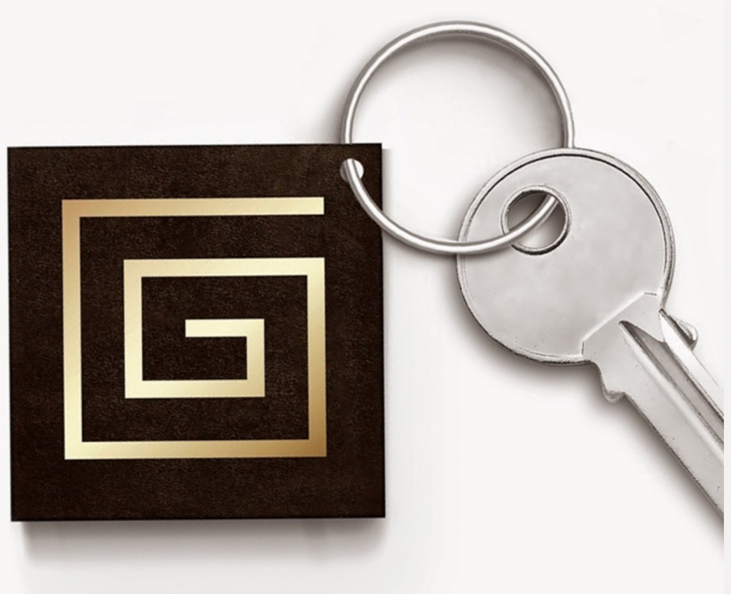 Grid NFC token to use as a business card.