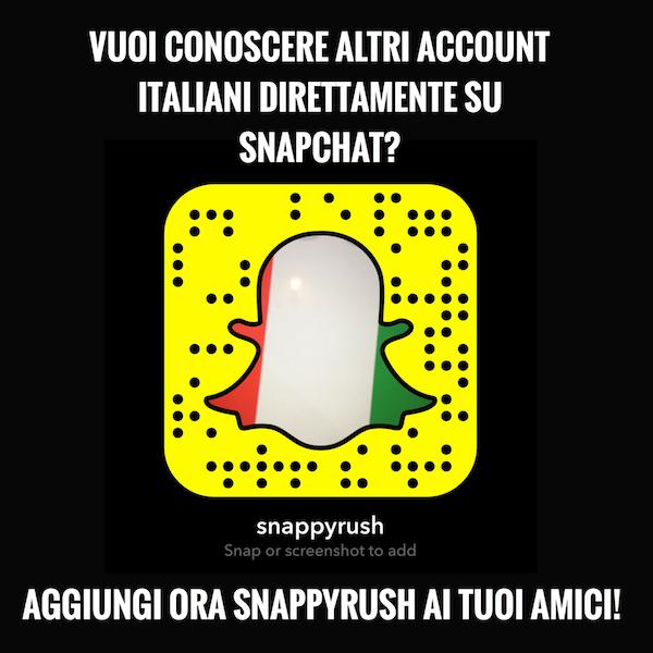 migliori account italiani da seguire su snapchat