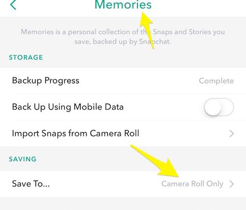 Aggiungere foto e video Snapchat nelle storie di Instagram