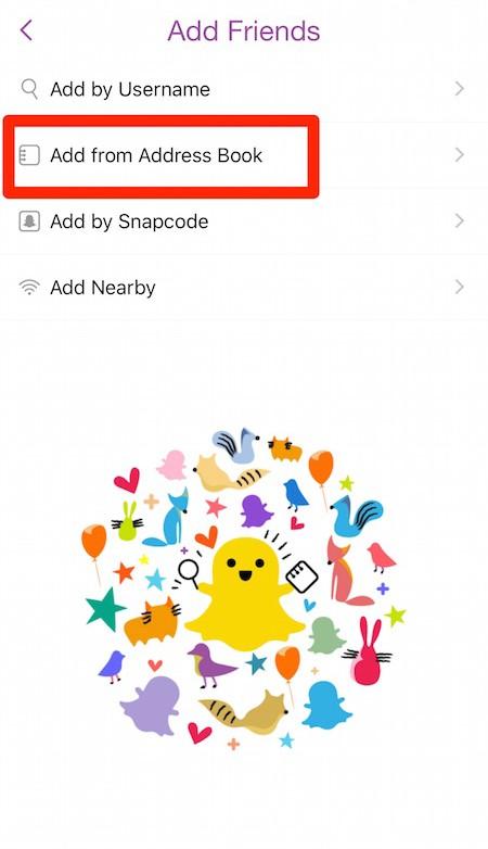 aumentare punteggio snapchat- amici rubrica