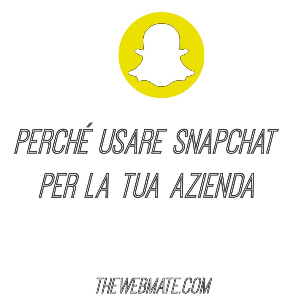 snapchat per la tua azienda