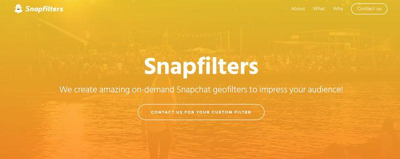 come creare filtri personalizzati su snapchat
