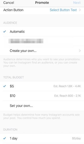account business instagram promozione post