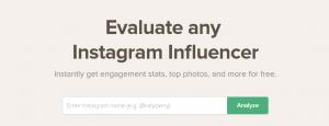 strumento di valutazione influencer instagram